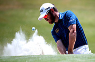 May 12, 2017; Ponte Vedra Beach, FL, USA;  Louis Oosthuizen hits from a bunker on the 15th hole during the second round of The Players Championship golf tournament at TPC Sawgrass - Stadium Course. Mandatory Credit: Peter Casey-USA TODAY Sports