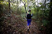 Santana do Riacho_MG, Brasil...Turista em uma trilha no Alto Palacio no Parque Nacional da Serra do Cipo...The tourist in trail in Alto Palacio of Serra do Cipo National Park...Foto: JOAO MARCOS ROSA / NITRO