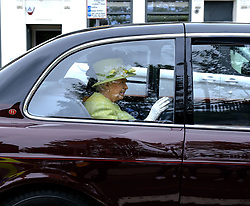 The Queen visited Gorgie City Farm in Edinburgh today as part of Royal Week.<br /> <br /> Gorgie City Farm is a community based initiative first opened in 1982<br /> <br /> Pictured: The Queen waves as she leaves the inner city farm<br /> <br /> Alex Todd | Edinburgh Elite media