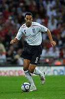 Photo: Tony Oudot/Richard Lane Photography.  England v Czech Republic. International match. 20/08/2008. <br /> Rio Ferdinand of England .