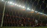 Photo: Andrew Unwin.<br /> Middlesbrough v Fulham. The Barclays Premiership.<br /> 20/11/2005.<br /> Middlesbrough's Jimmy Floyd Hasselbaink (C) scores his team's second goal.