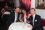 PETE TONG; STEPHEN WEBSTER; GARY KEMP, Pete & Caroline Tong and Yasmin Mills Christmas Party. Baroque, The Playboy Club, Old Park Lane, London. 15 December 2012.
