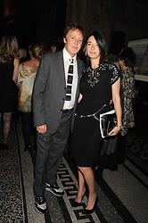 SIR PAUL McCARTNEY and MARY McCARTNEY at British Style Observed - part of National Magazine's 30 Days of Fashion & Beauty festival featuring photographs by Mary McCartney with proceeds from the evening going to Macmillan Cancer Care held at the Natural History Museum, Cromwell Road, London on 16th September 2008.