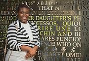Washington High School alumn Ty-Rinetta Sanders-Washington poses for a photograph at at the University of Houston, January 20, 2017.