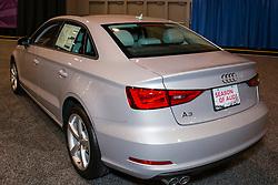 CHARLOTTE, NORTH CAROLINA - NOVEMBER 20, 2014: Audi A3 sedan on display during the 2014 Charlotte International Auto Show at the Charlotte Convention Center.