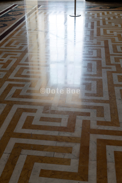 elegant marble floor with window light reflection in Palazzo Reale Ceserta Italy