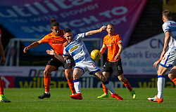 Dundee United's Rachid Bouhenna and Morton's Robert McHugh. Dundee United 6 v 0 Morton, Scottish Championship game played 28/9/2019 at Dundee United's stadium Tannadice Park.
