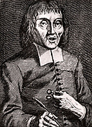 Jacob Brill (1639-1700) Dutch philosopher and follower of Spinoza.  Engraving from From 'Icones Virorum' by Friedrich Roth-Scholtz (Nuremberg, 1725).