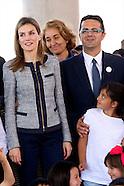 043014 Princess Letizia Visits to Public School 'Maria Moliner'
