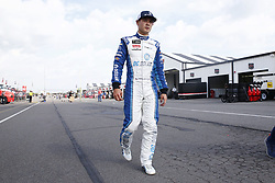 June 1, 2018 - Long Pond, Pennsylvania, United States of America - Kyle Larson (42) walks back to the garage following qualifying for the Pocono 400 at Pocono Raceway in Long Pond, Pennsylvania. (Credit Image: © Chris Owens Asp Inc/ASP via ZUMA Wire)