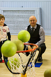 Pictured: Parrick Harvie, Scottish Green party co-convener<br /> <br /> Patrick Harvie, Co-Convenor of the Scottish Green Party met children at the Enjoy-a-Ball Holiday camp taking place at the North Merchiston Community Centre ahead of Tuesday's TV debate. Mr Harvie was joined by fellow MSP candidates Andy Wightman, Local Government Spokesperson, Maggie Chapman, Co-convener and Alison Johnston candiate for Lothian to present taxation proposals and answer questions.<br /> <br /> Ger Harley   EEm 29 March 2016