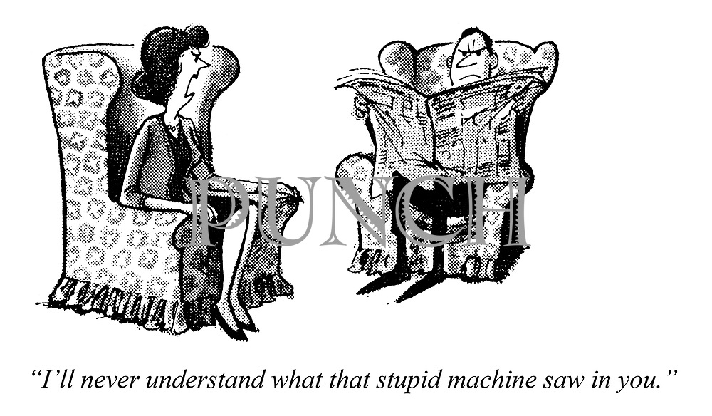 """Computed wedlock. """"I'll never understand what that stupid machine saw in you."""""""