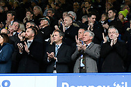 Fans applaud the tribute to John Jenkins ahead of the EFL Sky Bet League 1 match between Portsmouth and Ipswich Town at Fratton Park, Portsmouth, England on 21 December 2019.