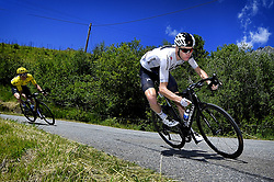 July 19, 2018 - Alpe D'Huez, France - British Chris Froome of Team Sky pictured in action during the twelfth stage in the 105th edition of the Tour de France cycling race, 175,5km from Bourg-Saint-Maurice Les Arcs to Alpe d'Huez, France, Thursday 19 July 2018. This year's Tour de France takes place from July 7th to July 29th. (Credit Image: © Yorick Jansens/Belga via ZUMA Press)