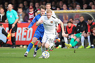 Northampton Town forward Luke Williams (35) dribbling and starting an attack during the EFL Sky Bet League 1 match between AFC Wimbledon and Northampton Town at the Cherry Red Records Stadium, Kingston, England on 11 March 2017. Photo by Matthew Redman.