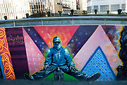 Bolivia 2013. La Paz. Murals/wall paintings of shoe shine boys