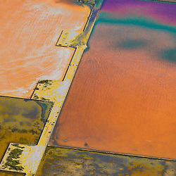 Aerial view of Salt Mines/Ponds. Ibiza Spain Aerial views of artistic patterns in the earth.