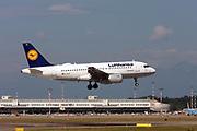 D-AILN Lufthansa, Airbus A319-114 at Malpensa (MXP / LIMC), Milan, Italy