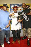 l to r: Craig G, Shucky Ducky and Sadat X at The 2008 Black August Benefit Concert held at BB Kings on August 31, 2008..2008 begins the second decade of Black August Hip Hop Project benefit concerts which assist and support Political Prisoners. The Malcolm X Grassroots Movement is an organization whose mission is to defend the human rights of people and promote self-determination in our community.
