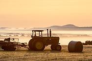 Morning fog over farm fields  in the Town of Minisink, New York, on Sept.21, 2020.