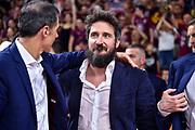 Gianmarco Pozzecco, Gianmario Dettori<br /> Umana Reyer Venezia - Banco di Sardegna Dinamo Sassari<br /> Legabasket LBA Serie A Postemobile 2018-2019 Finale Playoff Gara 7<br /> Sassari, 22/06/2019<br /> Foto L.Canu - Ciamillo-Castoria