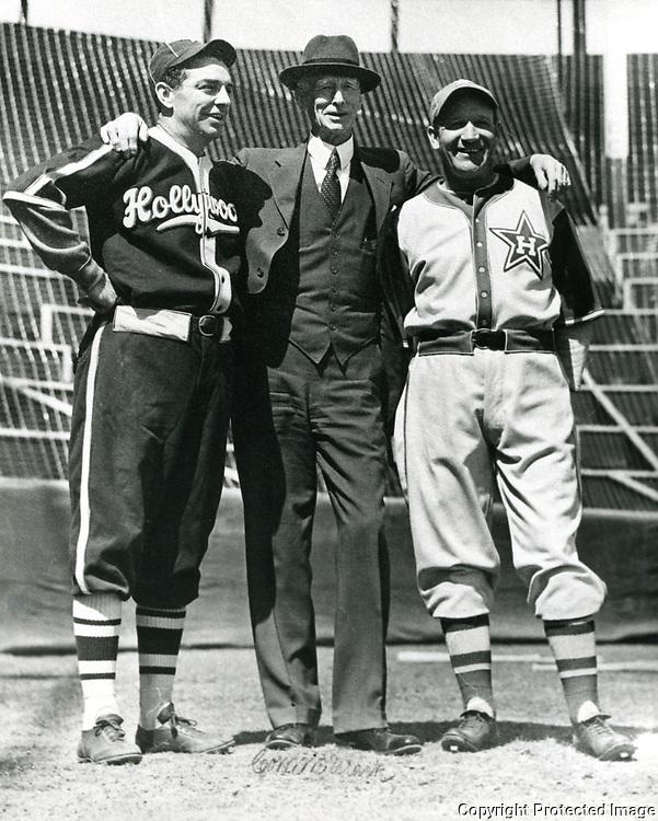 1953 Robert Cobb & Connie Mack at Gilmore Field