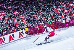 """29.01.2019, Planai, Schladming, AUT, FIS Weltcup Ski Alpin, Slalom, Herren, 2. Lauf, im Bild Johannes Strolz (AUT) // Johannes Strolz of Austria in action during his 2nd run of men's Slalom """"the Nightrace"""" of FIS ski alpine world cup at the Planai in Schladming, Austria on 2019/01/29. EXPA Pictures © 2019, PhotoCredit: EXPA/ Stefanie Oberhauser"""