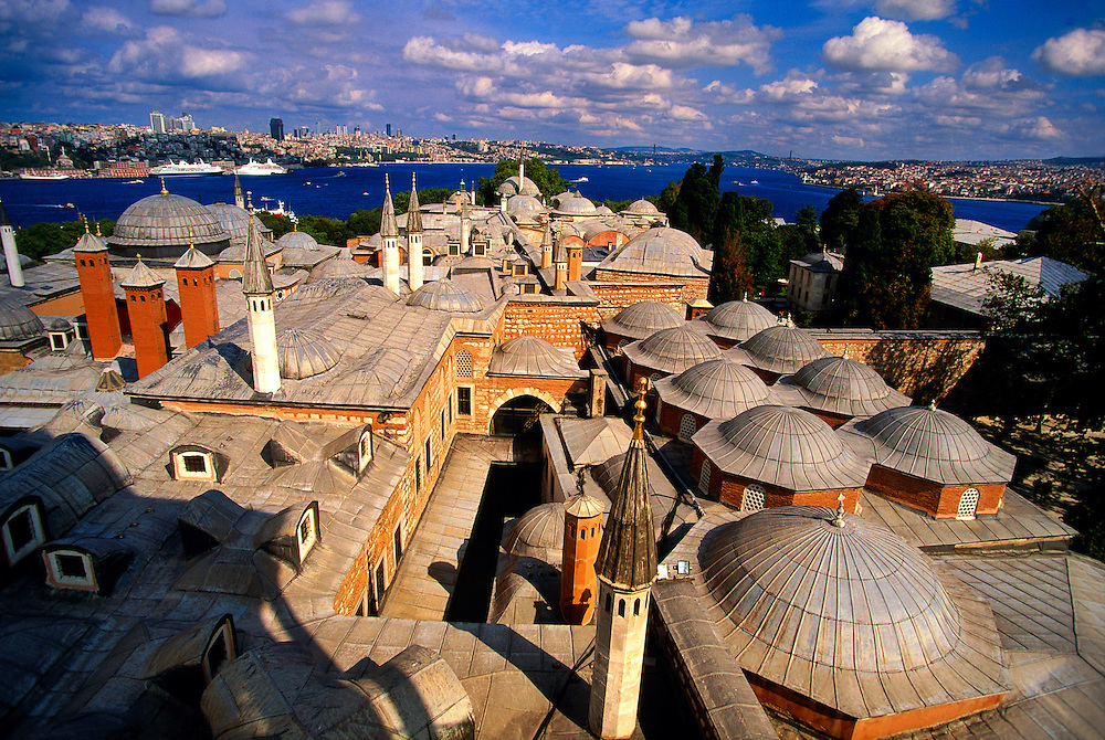 Overview of the Topkapi Palace and Istanbul from the Tower of Justice, Istanbul, Turkey