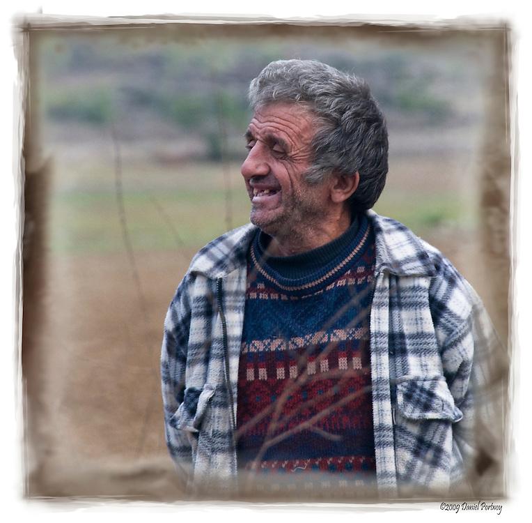 Portrait of albanian farmer