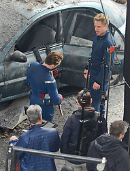 The Avengers filmed today in Atlanta with actors Robert Downey Jr., Chris Evans and Paul Rudd. 11 Jan 2018 Pictured: Chris Evans and Robert Downey Jr. Photo credit: MEGA TheMegaAgency.com +1 888 505 6342