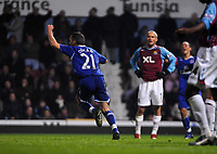 Photo: Tony Oudot/Sportsbeat Images.<br /> West Ham United v Everton. Carling Cup. 12/12/2007.<br /> Leon Osman of Everton celebrates his equaliser