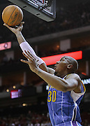 April 14, 2010; Houston, TX, USA; New Orleans Hornets forward David West (30) lays a shot in against the Houston Rockets during the fourth quarter at the Toyota Center.  The Hornets won 123-115. Mandatory Credit: Thomas Campbell-US PRESSWIRE