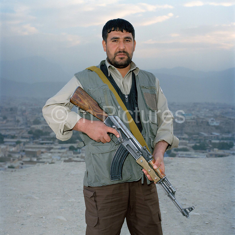 Akba has been a soldier and guard for fifteen years. He originally fought  in the Mujahideen against the Soviets with the warlord Gulbuddin before most recently, joining Majad Maly to fight against the Taliban in Khandahar province. Now he is a security guard working for WRN (Witan Risk management ).