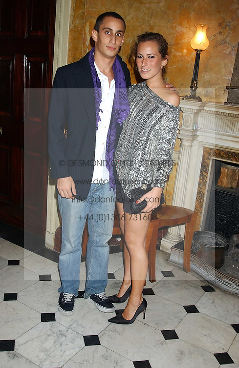 ALEX DELLAL and his sister CHARLOTTE DELLAL at a party following the TopShop Unique fashion show held at Home House, Portman Square, London on 19th September 2005.<br /><br />NON EXCLUSIVE - WORLD RIGHTS