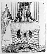Vincenzo Lunardi (1759-1806) Italian aeronaut. Made the first hydrogen balloon ascent in Britain, Moorfields, London, 15 September 1784. Here about to make first hydrogen balloon ascent in Scotland, Heriot's Hospital Green, Edinburgh, 5 October 1785. Etching by John Kay, Edinburgh 1785.
