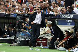 September 19, 2018 - Valencia, Spain - Head coach Marcelino Garcia Toral of Valencia CF looks dejected after defeat during the UEFA Champions League, Group H football match between Valencia CF and Juventus FC on September 19, 2018 at Mestalla stadium in Valencia, Spain (Credit Image: © Manuel Blondeau via ZUMA Wire)