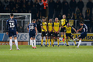 Stephen McLaughlin shoots at goal from a free kick during the EFL Sky Bet League 1 match between Burton Albion and Southend United at the Pirelli Stadium, Burton upon Trent, England on 3 December 2019.