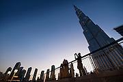 Dubai, UAE, Feb 12, 2010, Burj Khalifa at night. PHOTO © Christophe Vander Eecken