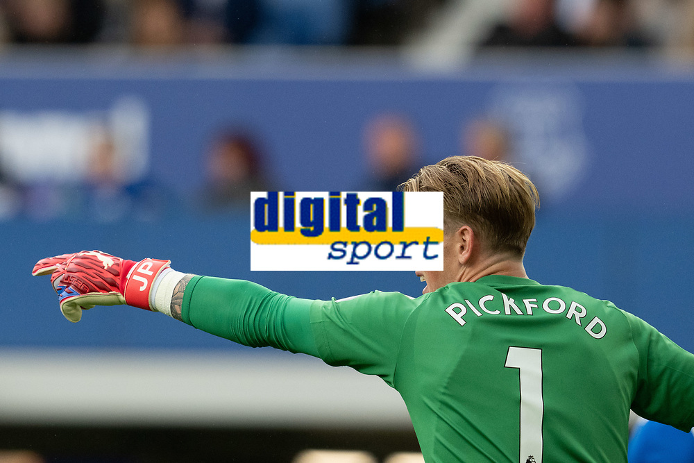 Football - 2021 / 2022 Premier League - Everton vs Southampton - Goodison Park - Saturday 14th August 2021.<br /> <br /> <br /> Everton's Jordan Pickford in action during todays match  <br /> <br /> <br /> Credit COLORSPORT/Terry Donnelly