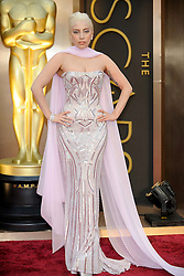 Lady Gaga arriving to the 2014 Oscars at the Hollywood and Highland Center in Hollywood, California, USA,  Sunday, 2nd March 2014. Picture by Hollywood Bubbles / i-Images<br /> UK ONLY