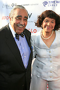 Congressman Charles Rangel and Guest at The Apollo Theater 4th Annual Hall of Fame Induction Ceremony & Gala with production design by In Square Circle Design Concepts, held at The Apollo Theater on June 2, 2008