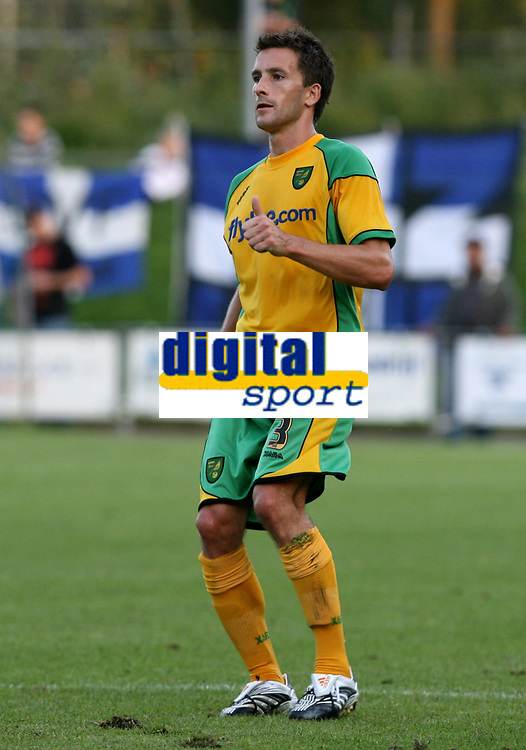 Photo: Maarten Straetemans.<br /> FC Zwolle v Norwich City. Pre Season Friendly. 25/07/2007.<br /> Adam Drury (Norwich City)