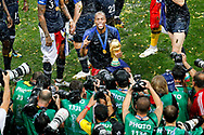 France defender Djibril Sidibe with the world cup posing after winning of the 2018 FIFA World Cup Russia, final football match between France and Croatia on July 15, 2018 at Luzhniki Stadium in Moscow, Russia - Photo Stanley Gontha / Proshots / ProSportsImages / DPPI