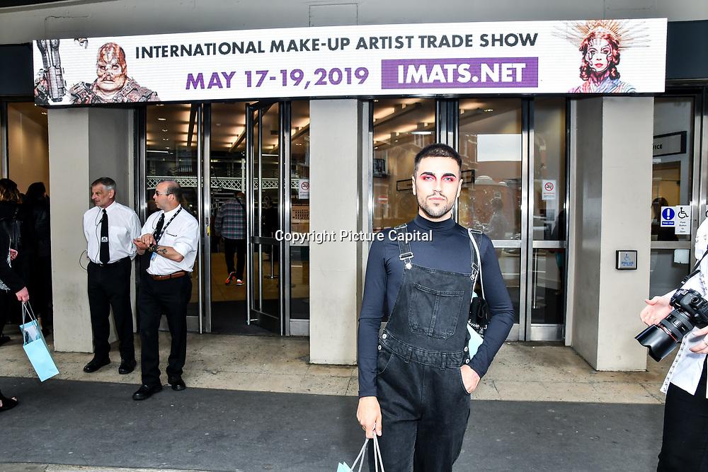 Jose Angel makeup by huda beauty at IMATS London on 18 May 2019,  London, UK.