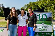 25-05-2019 Foto's van dag 2 van het Lauswolt Open 2019, gespeeld op Golf & Country Club Lauswolt in Beetsterzwaag, Friesland.<br /> Beste dames bij de amateurs: Kaylee de Jonge (2), Zhen Bontan (1) en Ingrid Vollema (3)