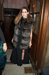 FRANCESCA VERSACE at the Veuve Clicquot Widow Series launch party hosted by Nick Knight and Jo Thornton MD Moet Hennessy UK held at The College, Central St.Martins, 12-42 Southampton Row, London on 29th October 2015.