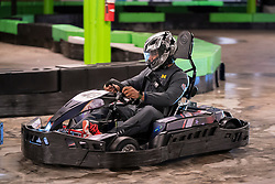 The Michigan Wolverines visit Andretti Indoor Karting and Games on Monday, December 24, 2018 in Marietta, GA. Michigan will face Florida in the 2018 Chick-fil-A Peach Bowl on December 29, 2018. (Paul Abell via Abell Images for the Chick-fil-A Peach Bowl)