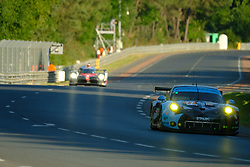 June 18, 2017 - Le Mans, Sarthe, France - Dempsey-Proton Racing Porsche 911 RSR rider MATTEO CAIROLI (ITA) in action during the race of the 24 hours of Le Mans on the Le Mans Circuit - France (Credit Image: © Pierre Stevenin via ZUMA Wire)