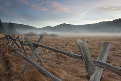 """""""Wood Fence in Squaw Valley"""" - This wood fence was photographed on a foggy  early morning in Squaw Valley, CA."""