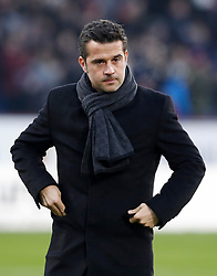 """Watford manager Marco Silva during the Premier League match at Turf Moor, Burnley. PRESS ASSOCIATION Photo. Picture date: Saturday December 9, 2017. See PA story SOCCER Burnley. Photo credit should read: Martin Rickett/PA Wire. RESTRICTIONS: EDITORIAL USE ONLY No use with unauthorised audio, video, data, fixture lists, club/league logos or """"live"""" services. Online in-match use limited to 75 images, no video emulation. No use in betting, games or single club/league/player publications."""